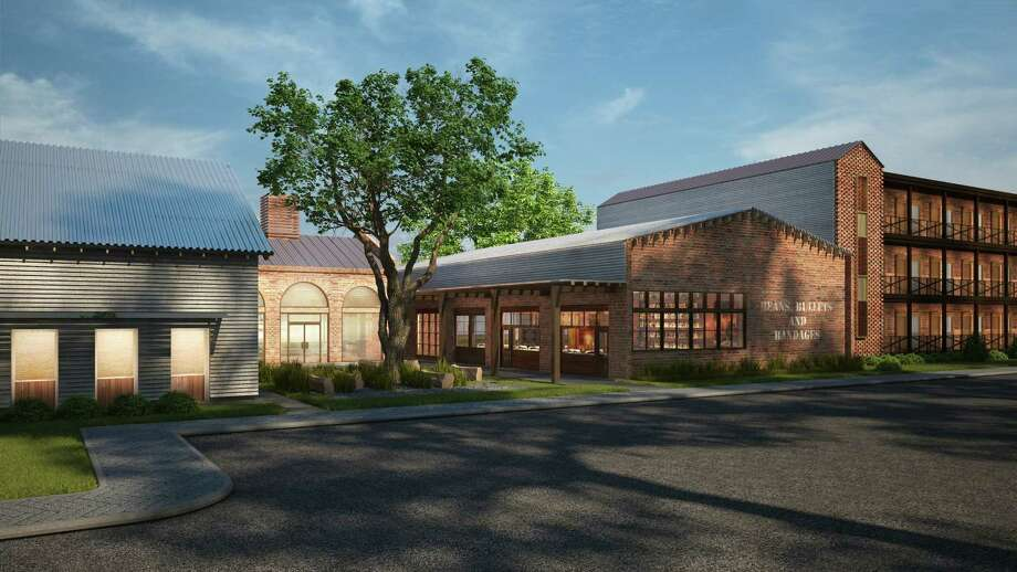 Houston's Valencia Group is creating the Cavalry Court in College Station, a 141-room hotel that will open next month. Next to it will be The George, a more upscale hotel. Photo: The Valencia Group