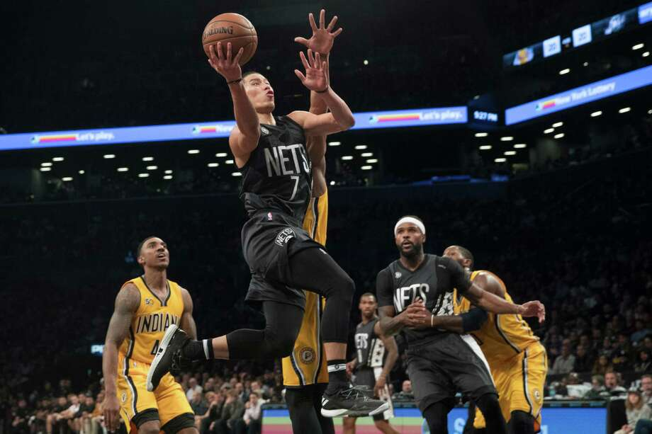 3706fc1f983d Brooklyn Nets guard Jeremy Lin (7) goes to the basket past Indiana Pacers  forward