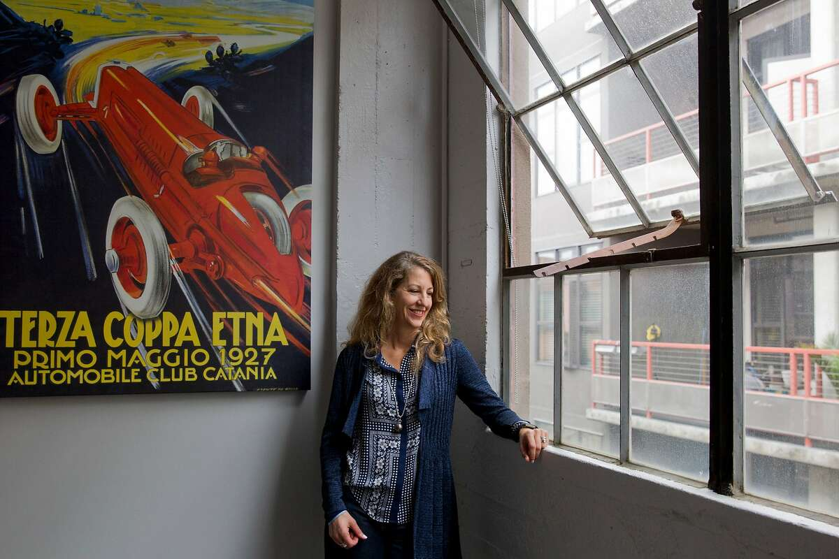 EDriving CEO Celia Stokes in her office at the company's headquarters on Friday, Oct. 28, 2016 in Oakland, Calif.