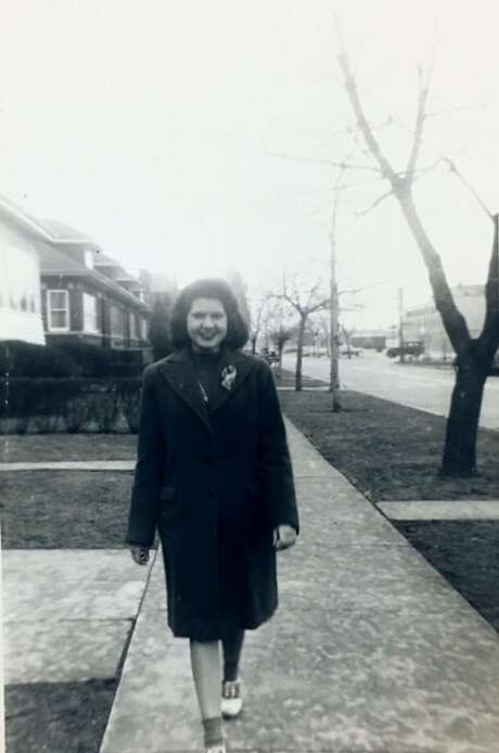 Ann Byrne Shea strolling in Chicago in the mid-1940s. (Photo courtesy Shea family.)