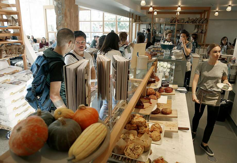 A view of the pastry counter at Tartine Manufactory. The company has recently been expanding at a breakneck pace, starting with the Manufactory, which opened in 2016. Photo: Liz Hafalia, The Chronicle