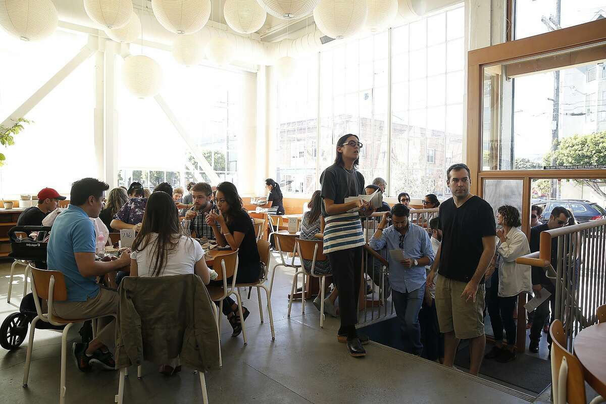 View of the dining and entry area at Tartine Manufactory on Friday, October 21, 2016, in San Francisco, Calif.