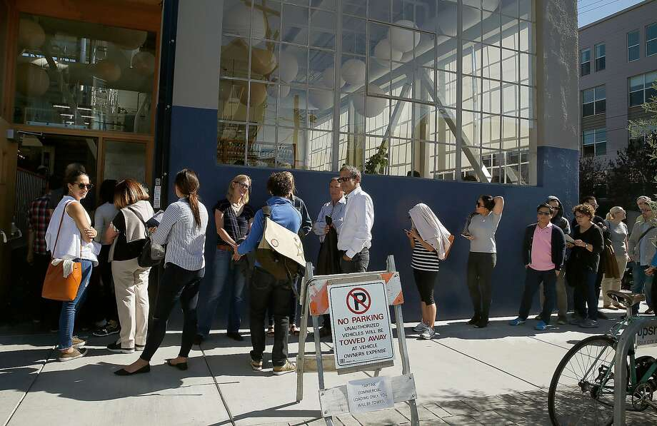 View of the line outside of Tartine Manufactory on Friday, October 21, 2016,  in San Francisco, Calif. Photo: Liz Hafalia / The Chronicle
