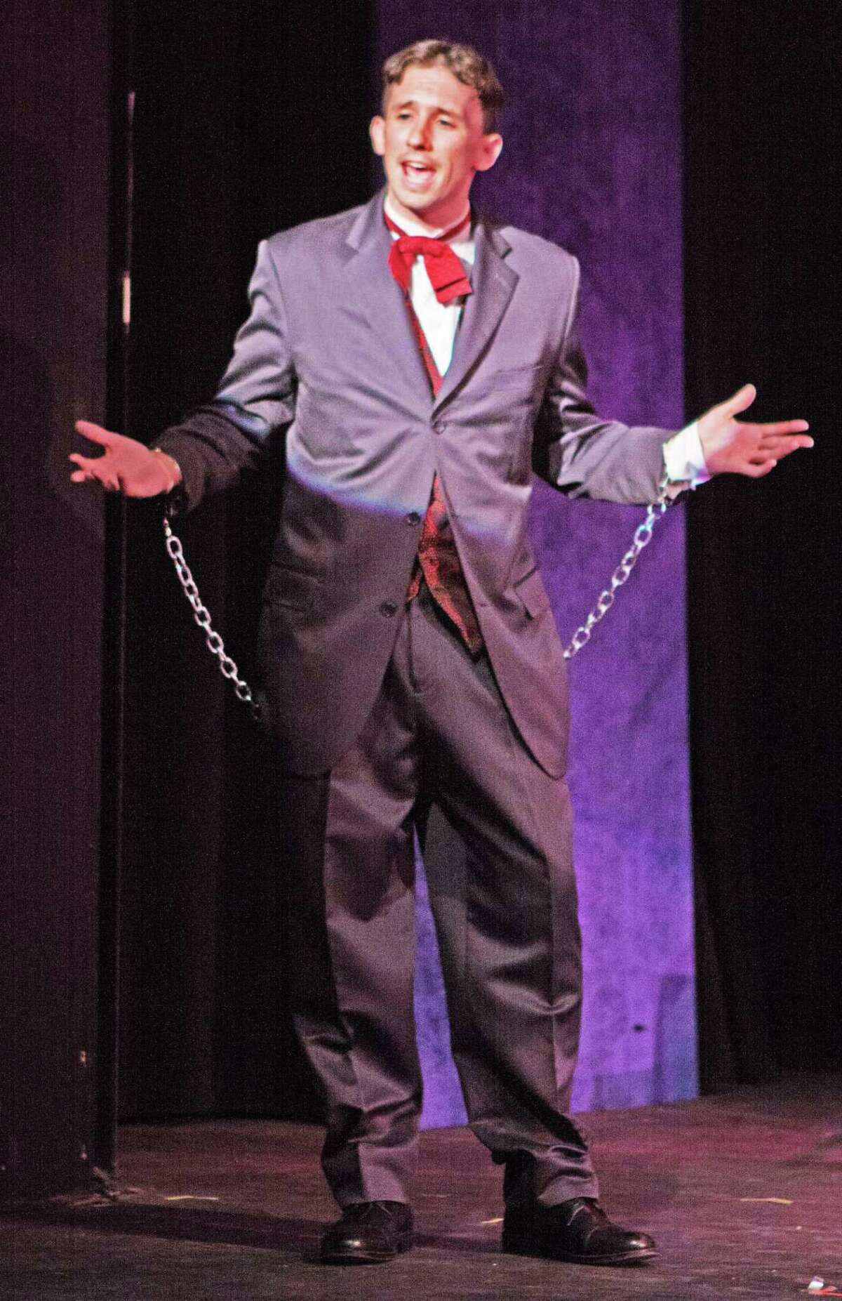 """Ian Barto as Houdini in Curtain Call's recent production of """"Ragtime"""" in Stamford."""
