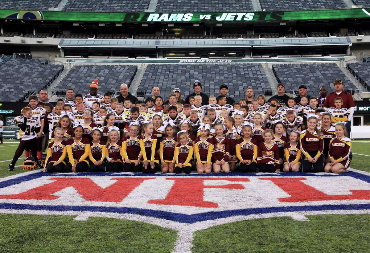 The Colonie Pop Warner Raiders played at MetLife Stadium after the Jets played the Ravens on Oct. 23, 2016. (Provided)