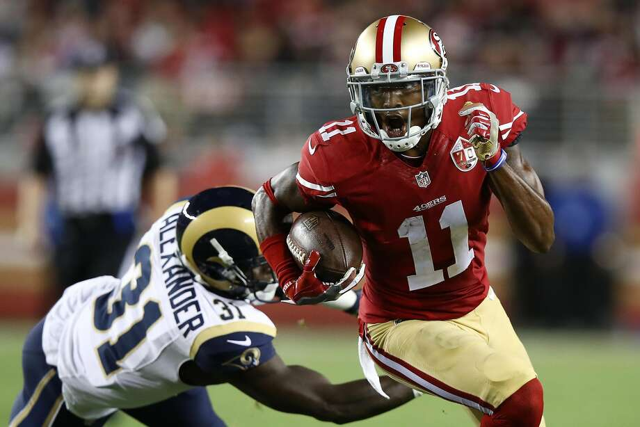 SANTA CLARA, CA - SEPTEMBER 12:  Quinton Patton #11 of the San Francisco 49ers runs with the ball after a catch against the Los Angeles Rams during their NFL game at Levi's Stadium on September 12, 2016 in Santa Clara, California.  (Photo by Ezra Shaw/Getty Images) Photo: Ezra Shaw, Getty Images