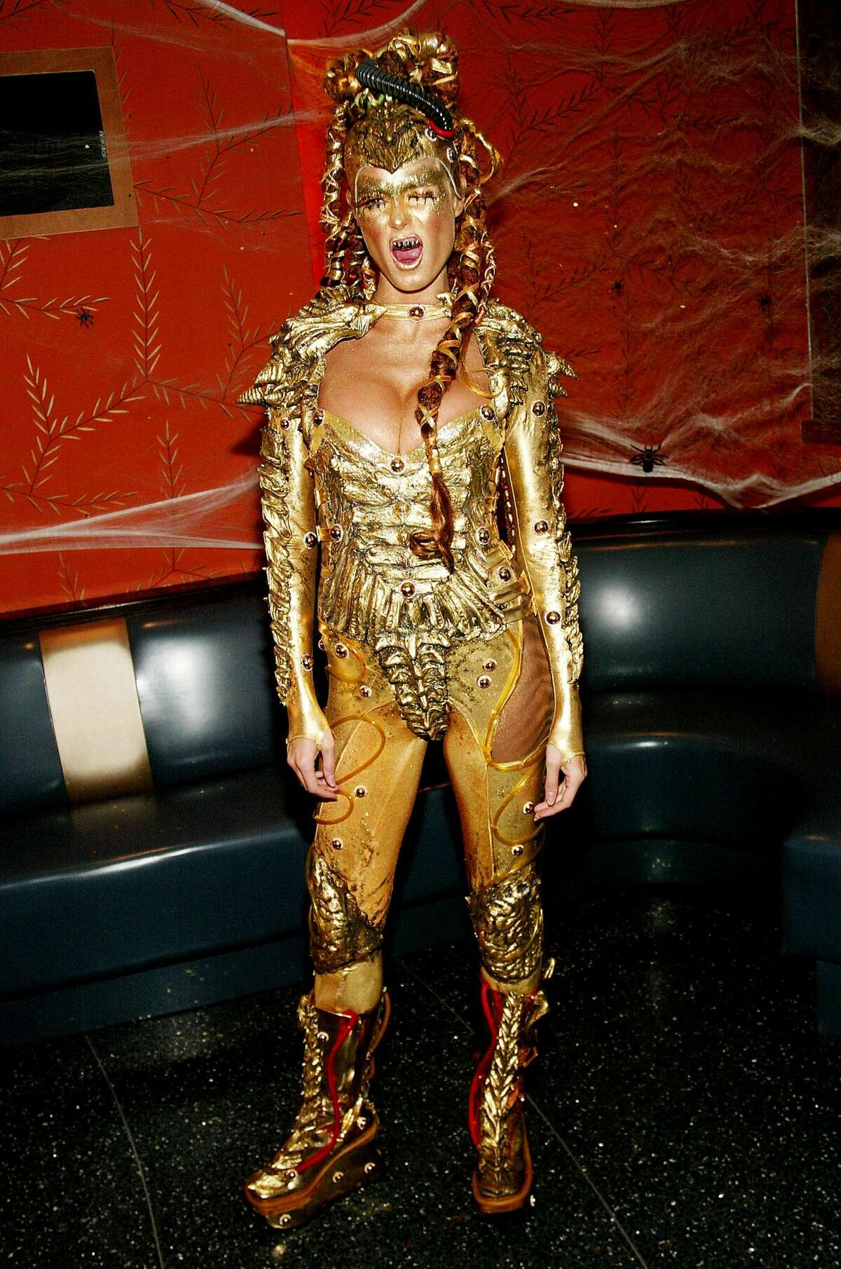 2003: Heidi Klum as a golden space alien