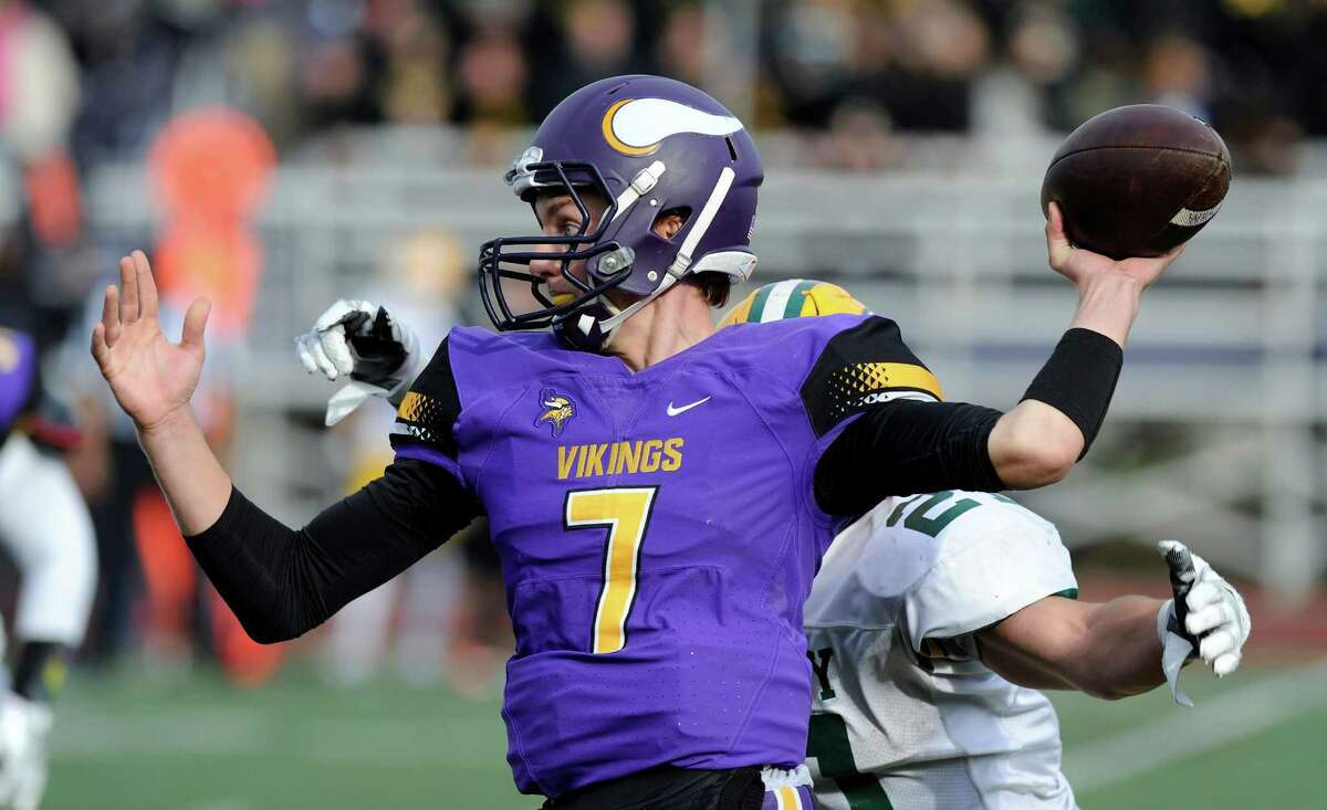 Trinity Catholic defeated Westhill 28-14 in a intracity football game at Westhill High School's J. Walter Kennedy Stadium in Stamford on Saturday, Oct. 29, 2016.