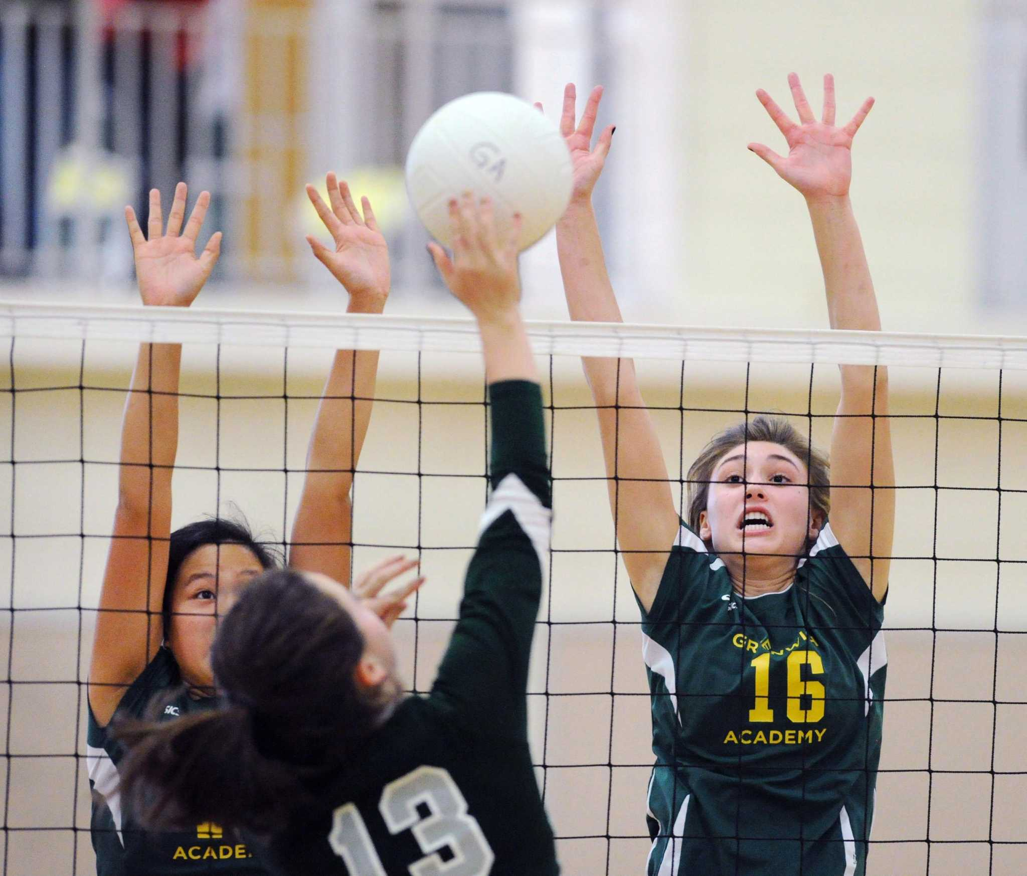 Greenwich academy volleyball sweeps berkshire for Swanson s fish market
