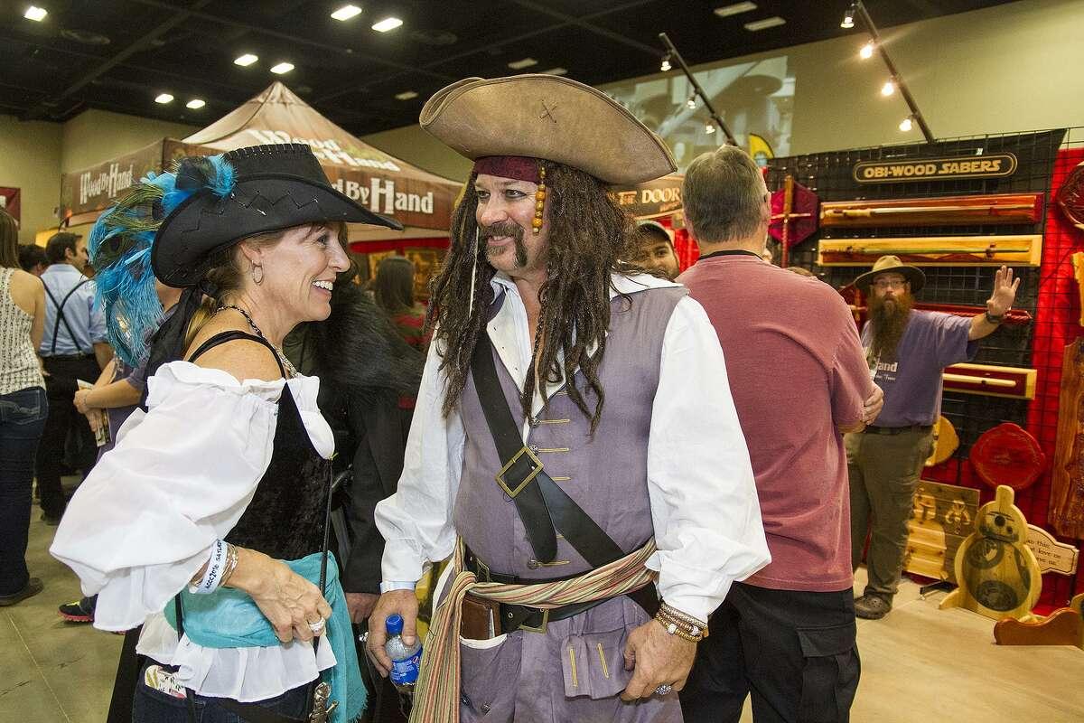Sandy and Mark Turner at Alamo City Comic Con, Saturday, Oct. 29, 2016.