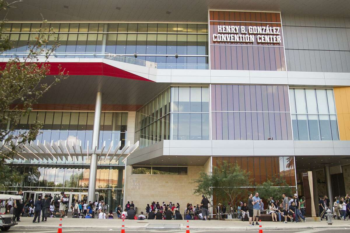 Outside Alamo City Comic Con at the Henry B. Gonzalez Convention Center, Saturday, Oct. 29, 2016.