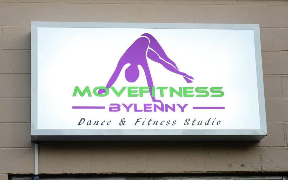 Sign outside dance and fitness studio Move Fitness where a BollyX fitness class was being held on Wednesday, Sept. 21, 2016 in Albany, N.Y. BollyX is a Bollywood-inspired dance fitness program. (Lori Van Buren / Times Union)