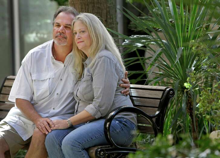 Craig Goulding, with wife Deborah, has a rare blood cancer in remission. To hold off a recurrence, he was scheduled to undergo a stem-cell transplant next year, when he'll lose his health coverage.