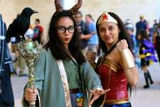 Costumed crusaders took over the Convention Center and the streets of downtown San Antonio for the annual geek extravaganza Alamo City Comic Con Saturday, Oct. 29, 2016.