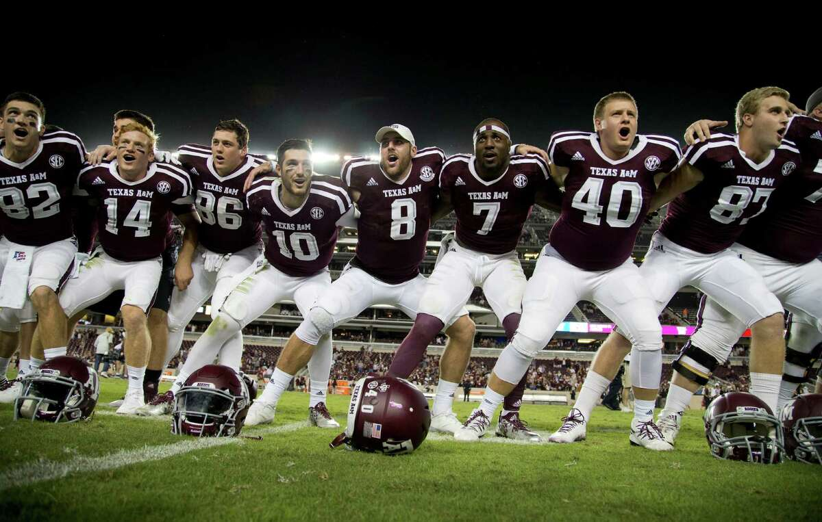 TEXAS A&M (7-1) Remaining schedule Nov. 5: at Mississippi State Nov. 12: vs. Mississippi Nov. 19: vs. Texas-San Antonio Nov. 26: vs. LSU Despite a loss to Alabama, the Aggies find themselves in prime position to make the College Football Playoff. The only ranked team the Aggies have left on the schedule is No. 13 LSU at home. Still, there's a chance a team could come from behind and jump them. See all the other teams threatening to get into the College Football Playoff and what their chances are to be there when all the dust settles.