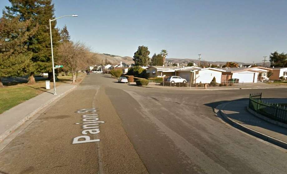 A Google street view image shows an intersection near Tennyson Park in Hayward where police shot a man Saturday night. Photo: Google / /
