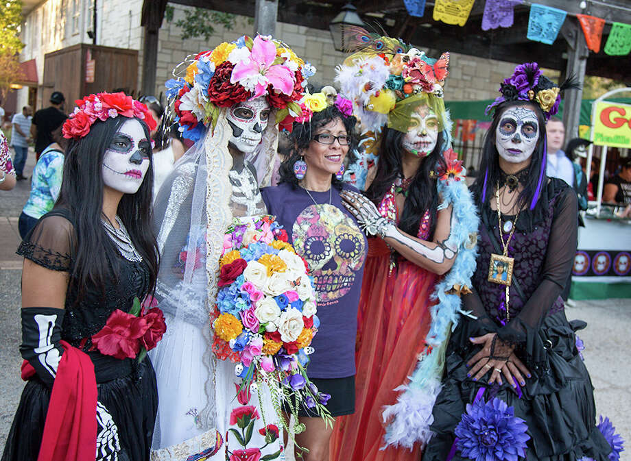 """Día de los Muertos at La VillitaWhen? Oct. 28-29 at 10 a.m. to 11 p.m.Where? La Villita Historic Arts Village at 418 Villita""""Día de los Muertos at La Villita is a two-day, free, family-friendly event that combines traditional culture with the best in contemporary Latino music."""" Photo: By B. Kay Richter, For MySA"""