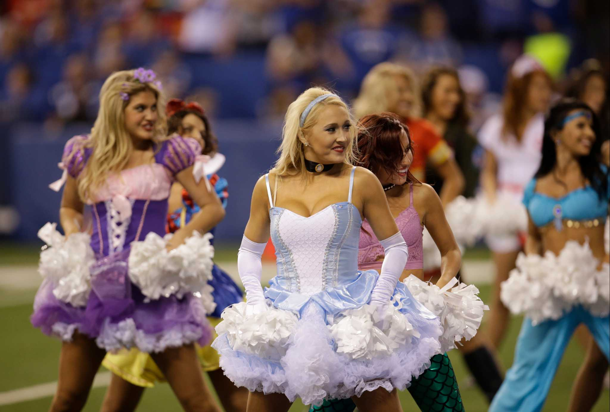 nfl cheerleaders dress up for halloween houston chronicle