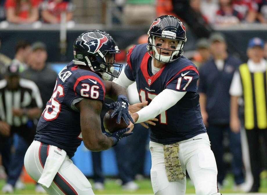 Texans at Jaguars:McClain –  TexansRobertson –  TexansWilson –  TexansSolomon –  JaguarsSmith –  TexansCreech –  Texans Photo: George Bridges, FRE / FR171217 AP