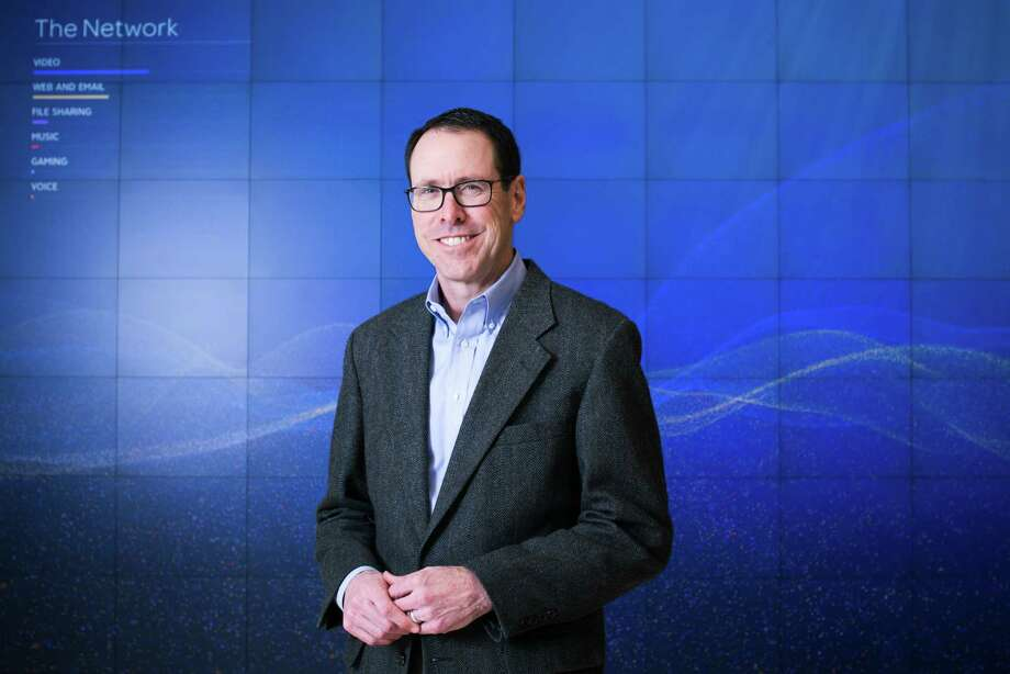 PHOTO MOVED IN ADVANCE AND NOT FOR USE - ONLINE OR IN PRINT - BEFORE OCT. 30, 2016. — FILE -- Randall Stephenson, chief executive of AT&T, inside of the company's headquarters in Dallas, Jan. 27, 2016. The last two mega-mergers involving Time Warner fell far short of their promise, but Stephenson and investors believe the recently proposed merger with AT&T will be different. (Brandon Thibodeaux/The New York Times) Photo: BRANDON THIBODEAUX, STR / NYTNS