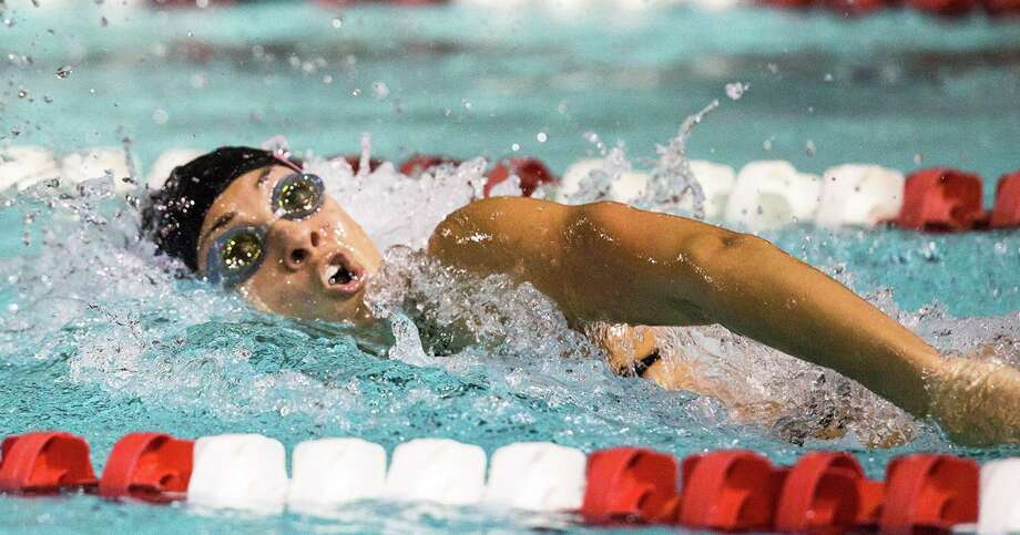 Ky-lee Perry of Norwalk, a freshman at NC State University, won the first individual race of her career in her first meet at Duke University, where she also set a new pool record last week. Photo: Photo Courtesy Of NC State Athletics / Hearst Connecticut Media / Norwalk Hour