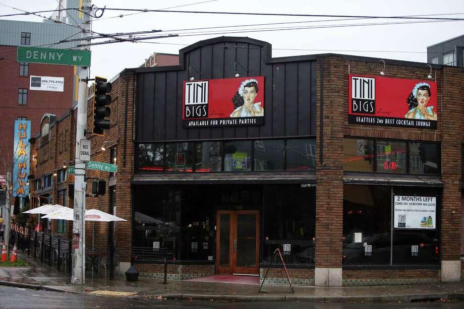 Tini Bigs bar at the corner of Denny Way and 1st Avenue, Sunday, Oct. 30, 2016. Photo: GENNA MARTIN, SEATTLEPI.COM / SEATTLEPI.COM
