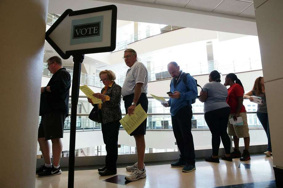 Early voters line up in Winston-Salem, N.C., which has emerged as a closely contested battleground state for the White House and control of the Senate. Photo: Alex Wong, Staff / 2016 Getty Images
