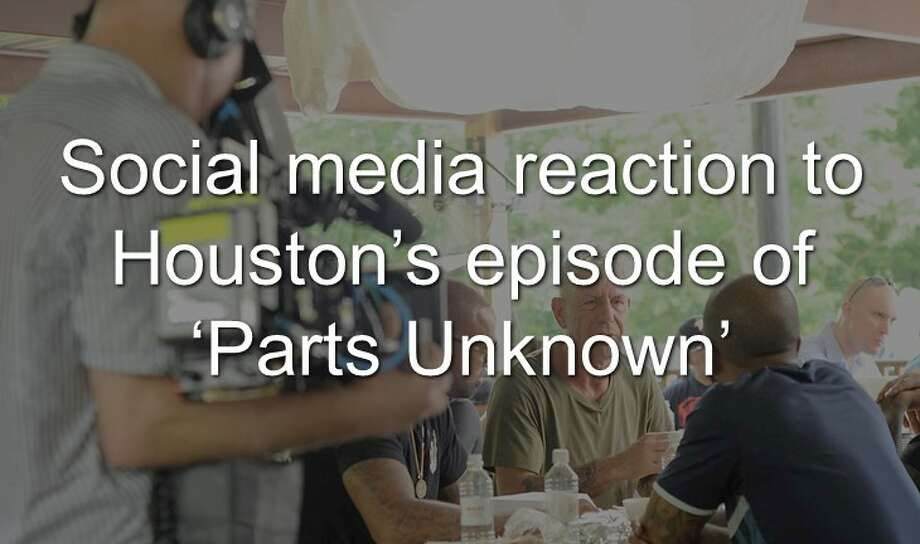 "Social media reaction to ""Anthony Bourdain: Parts Unknown"" Episode of Houston. Photo: Houston Chronicle Staff"