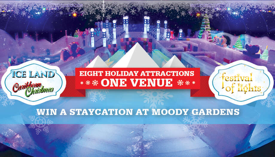 Moody gardens reveals newly themed ice land a caribbean - Moody gardens festival of lights 2016 ...