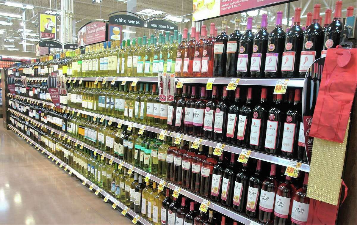An extensive selection of wines can be found inside the newest Kroger in the Katy, which area opened its doors Friday, Oct. 28, 2016.