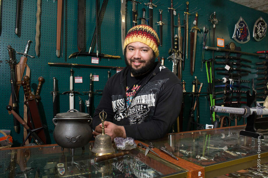 Magick Cauldron's biggest revenues flow from medieval and ceremonial weapons, which can cost thousands of dollars.  (For more photos, scroll through the gallery.) Photo: Ev1pro.com / ev1pro.com