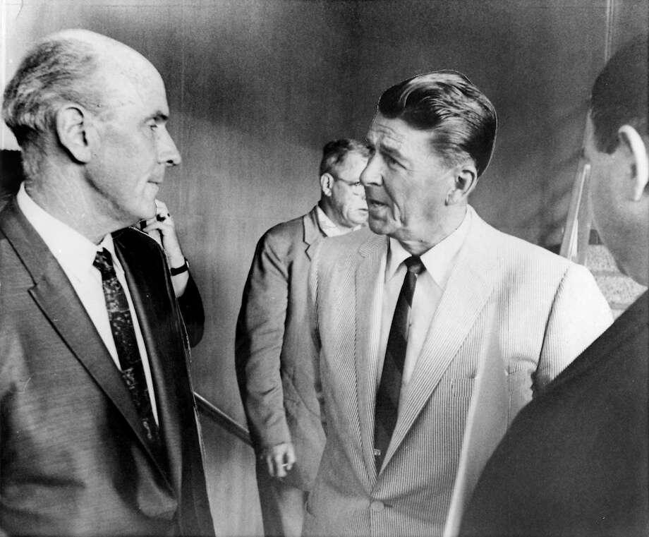 Gov.-elect Ronald Reagan looked askance at topless waitresses. Photo: ASSOCIATED PRESS, SFC