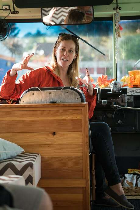 Annie Pautsch is the Brew Cruz tour guide. Photo: James Tensuan, Special To The Chronicle