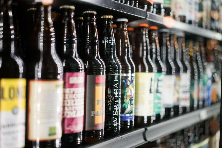 The brews line the shelves at Beer Thirty in Soquel. Photo: James Tensuan, Special To The Chronicle