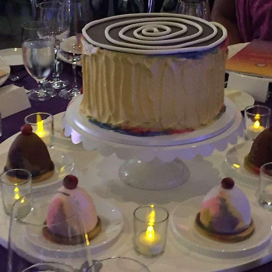 McCall's cakes honoring Wayne Thiebaud at UC Davis art museum opening. Photo: Leah Garchik, Leah Garchik/San Francisco Chronicle