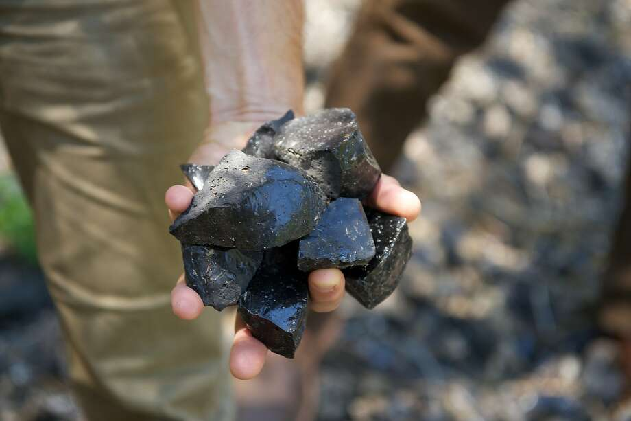 Obsidian glass found at Obsidian Ridge. Photo: Obsidian Ridge