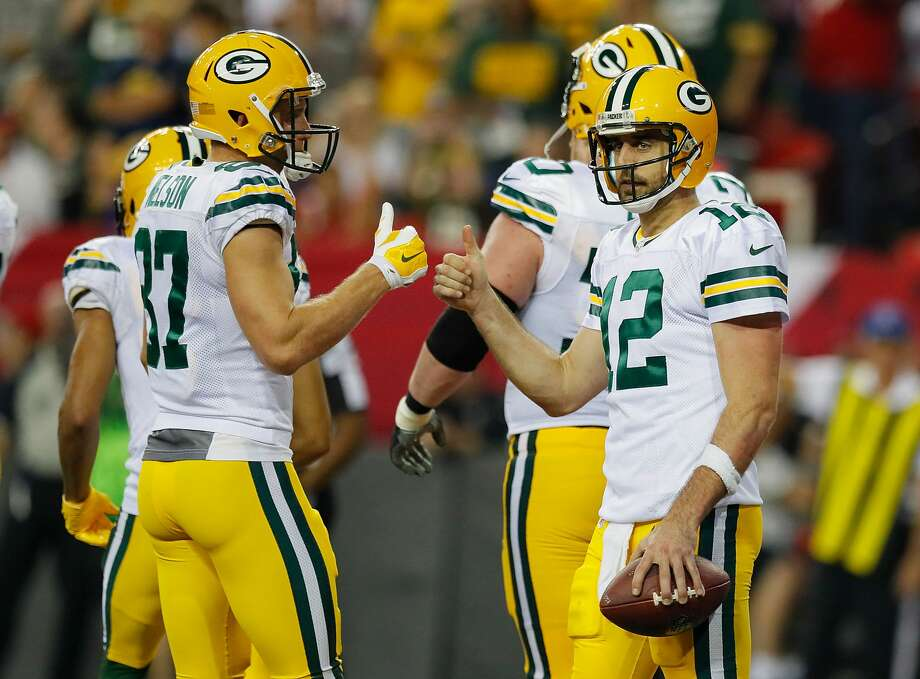 The Packers used a pistol formation against the Philadelphia Eagles - something the Texans will have to be ready for on Sunday. Photo: Kevin C. Cox/Getty Images