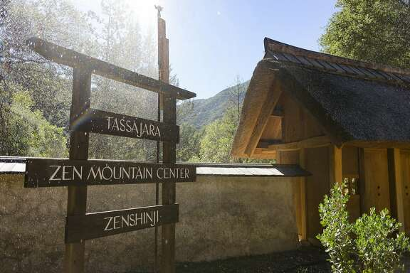 The entrance to Tassajara Zen Center in Jamesburg, CA, on Thursday October 20, 2016.