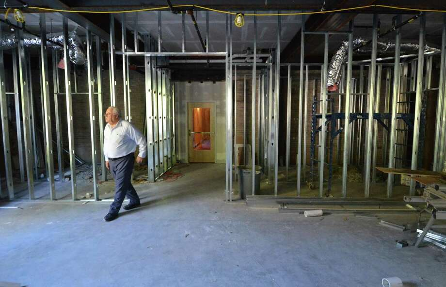 Co-Owner Chris Handrinos walks into the new fitness center that will have exercise equipment plus a sauna and steam room. Construction of the final portion the long-planned expansion, including the addition of 39 more rooms on the new third floor is part of the renovation project at The Norwalk Inn & Conference Center that is nearing completion. on Wednesday October 19, 2016 in Norwalk Conn. Photo: Alex Von Kleydorff / Hearst Connecticut Media / Connecticut Post