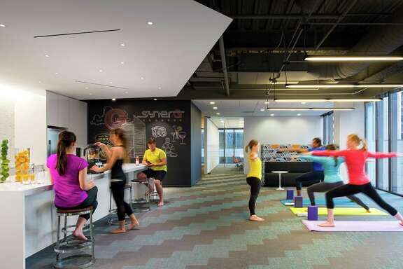 One of the many uses for the 6h floor of architecture and interior design firm Gensler's Houston office.
