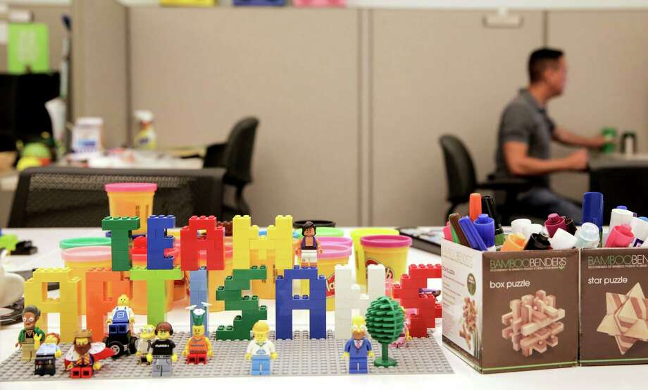 """Legos help to inspire """"Team Artisans,"""" which makes sure various parts of Insperity communicate well, during brainstorming sessions. Photo: Elizabeth Conley, Staff / © 2016 Houston Chronicle"""
