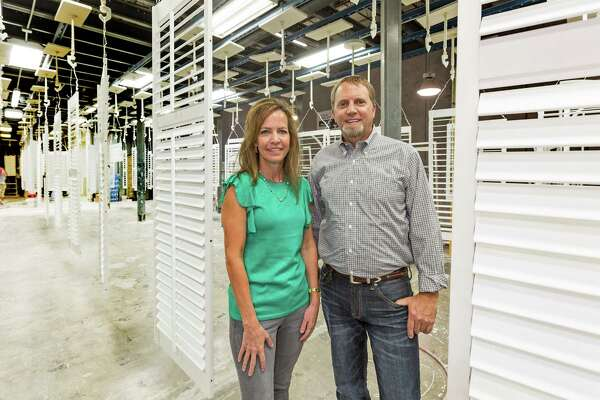 Rockwood Shutters, 7000 Brand Blvd., Top Workplaces. Jennifer Baur, CEO & President and Mike Blackburn, COO. Friday September 23, 2016 (Craig H. Hartley/For the Chronicle)