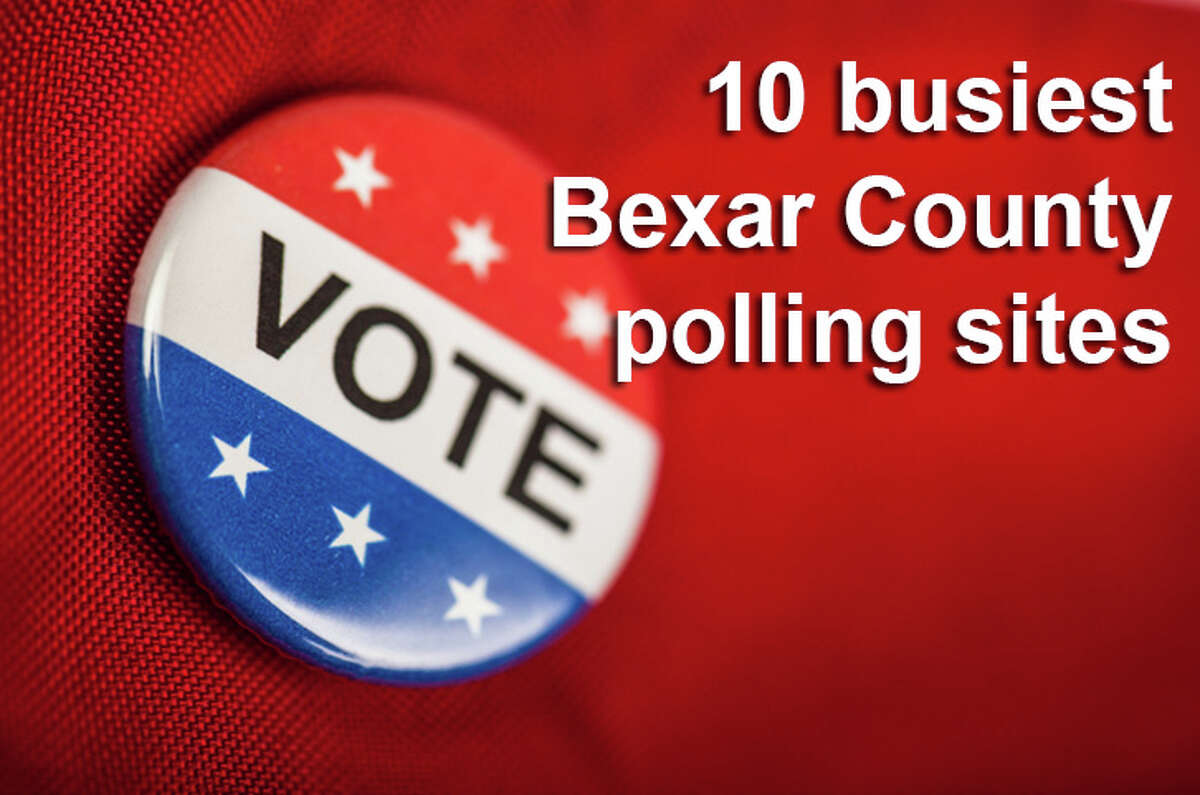 10 Bexar County polling locations with the longest lines