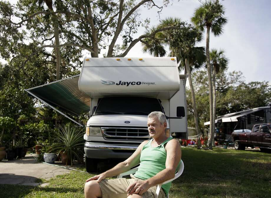 John Long, a Republican voting for Donald Trump, lives in Cape Canaveral. The swath around Interstate 4 is the state's main political battleground. Photo: John Raoux, Associated Press