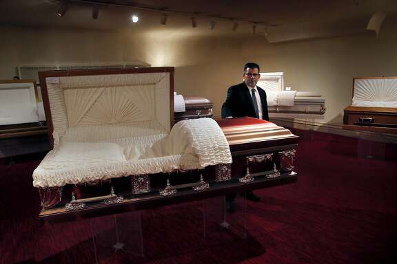 Fifth generation undertaker Matt Taylor, of the Valente Marini Peralta & Co. funeral home, on Saturday October 29, 2016,  is looking for a new home for his business because his current site is being sold to make room for housing along Mission St. in San Francisco, California.