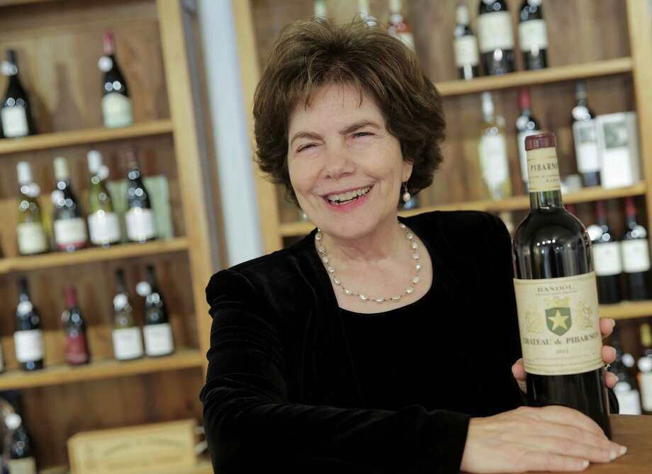 Phyllis Adato of French Country Wines with her wine pick for the season on Tuesday, Oct. 25, 2016, in Houston. ( Elizabeth Conley / Houston Chronicle ) Photo: Elizabeth Conley, Staff / © 2016 Houston Chronicle