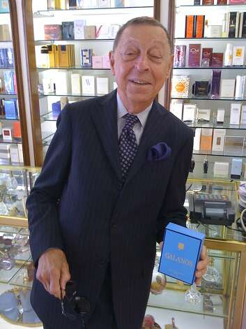 James Galanos was so excited on a visit to San Francisco in the mid-2000s to see that the Jacqueline perfume boutique carried his Galanos perfume that he bought three bottles. The longtime fragrance boutique, which carried hard-to-find perfumes, has since closed. Photo: Galanos Archive
