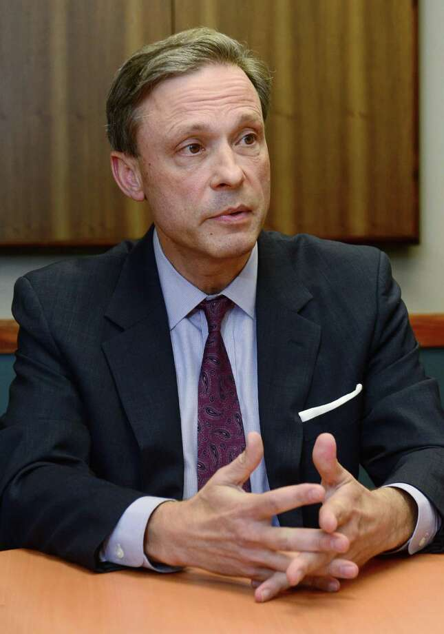 State Representative Fred Wilms, a former Norwalk councilman and chairman of the city's tax board, speaks to The Hour editorial board Friday, October 14, 2016 at The Hour offices in Norwalk, Conn., about his bid for a second term representing the 142nd State House District, which includes West Norwalk and part of New Canaan. Photo: Erik Trautmann / Hearst Connecticut Media / Norwalk Hour