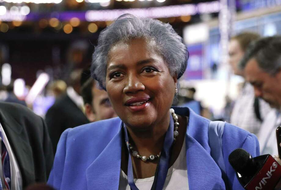 """Donna Brazile, interim chair of the Democratic National Committee, appears on the floor of the Democratic National Convention in Philadelphia in July 2016. In her new book, Brazile says she learned months later that an August 2015 agreement between the DNC and the Hillary Clinton campaign had allowed Clinton, """"in exchange for raising money and investing in the DNC,"""" to """"control the party's finances, strategy, and all the money raised."""" Photo: Paul Sancya /Associated Press / Copyright 2016 The Associated Press. All rights reserved."""