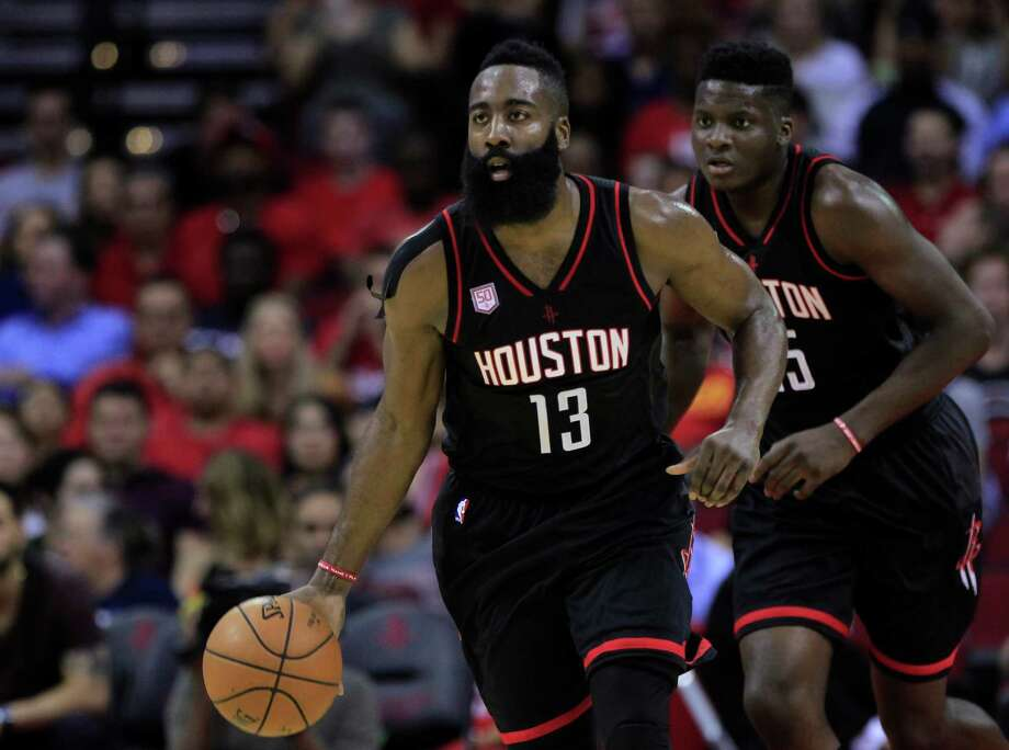 Houston Rockets guard James Harden (13) brings the ball down court during the Houston Rockets game against the Dallas Mavericks at the Toyota Center, Sunday, Oct. 30, 2016, in Houston. ( Mark Mulligan / Houston Chronicle ) Photo: Mark Mulligan, Staff / © 2016 Houston Chronicle